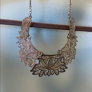 Unique metal statement necklace